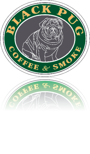 black pug coffee smoke