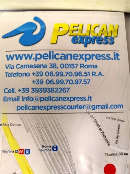 Pelican express courier italy